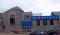 Store front for BMO Bank Of Montreal