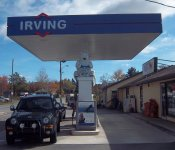 Store front for Irving Gas Station (at Mike's Diner)