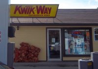 Store front for Mike's Kwik Way