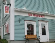 Store front for Red Door Realty